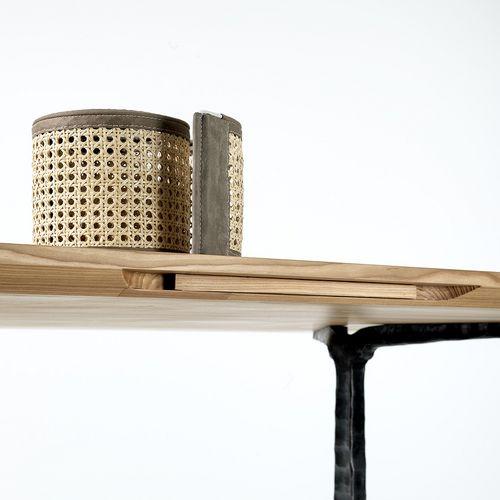 Möbeldesign Tisch Holz Pingpong Netz Tennis Roger
