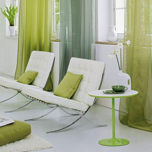 Raumtextilien Faltvorhang grün