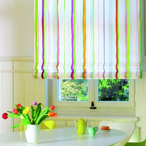 Raumtextilien Raff-Vorhang farbig