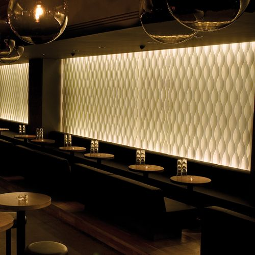Raumtextilien vertical wave in Bar / Lounge