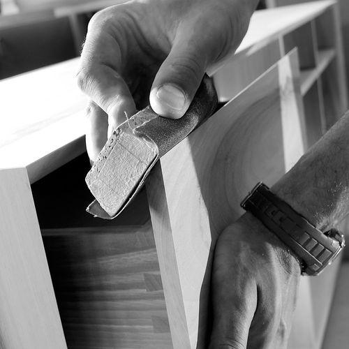 Holz schleifen Schleifpapier