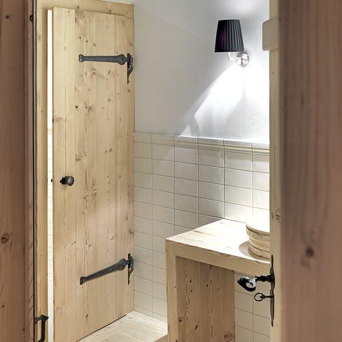 Innenarchitektur Holz Türe