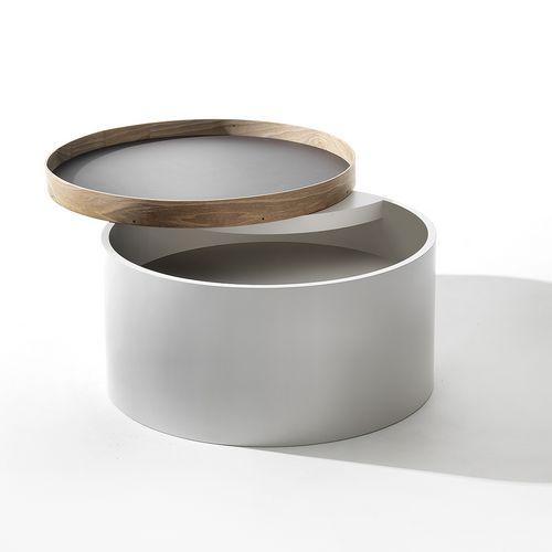 Accessoire Rindsleder Tablett Holzbandverschluss zylinderförmig Hannelore