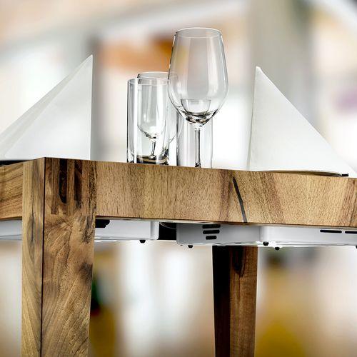 Möbel Holz Induktionstisch eckig