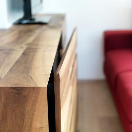 Innenarchitektur Wohnzimmer Detail Sideboard Holz
