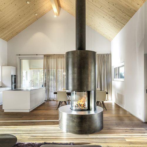 Innenarchitektur Einfamilienhaus Küche Wohnzimmer