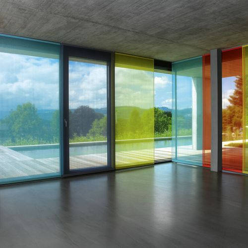 Raumtextilien Flächenvorhang farbig