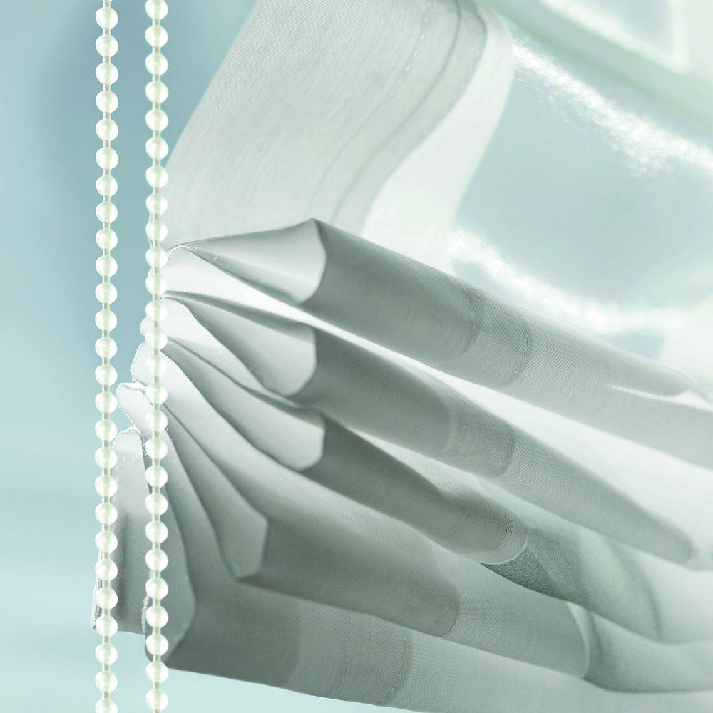 Raumtextilien Raff-Vorhang weiss Detail