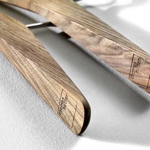 Accessoire Holz Kleiderbügel Garderobe abgerundet Diana