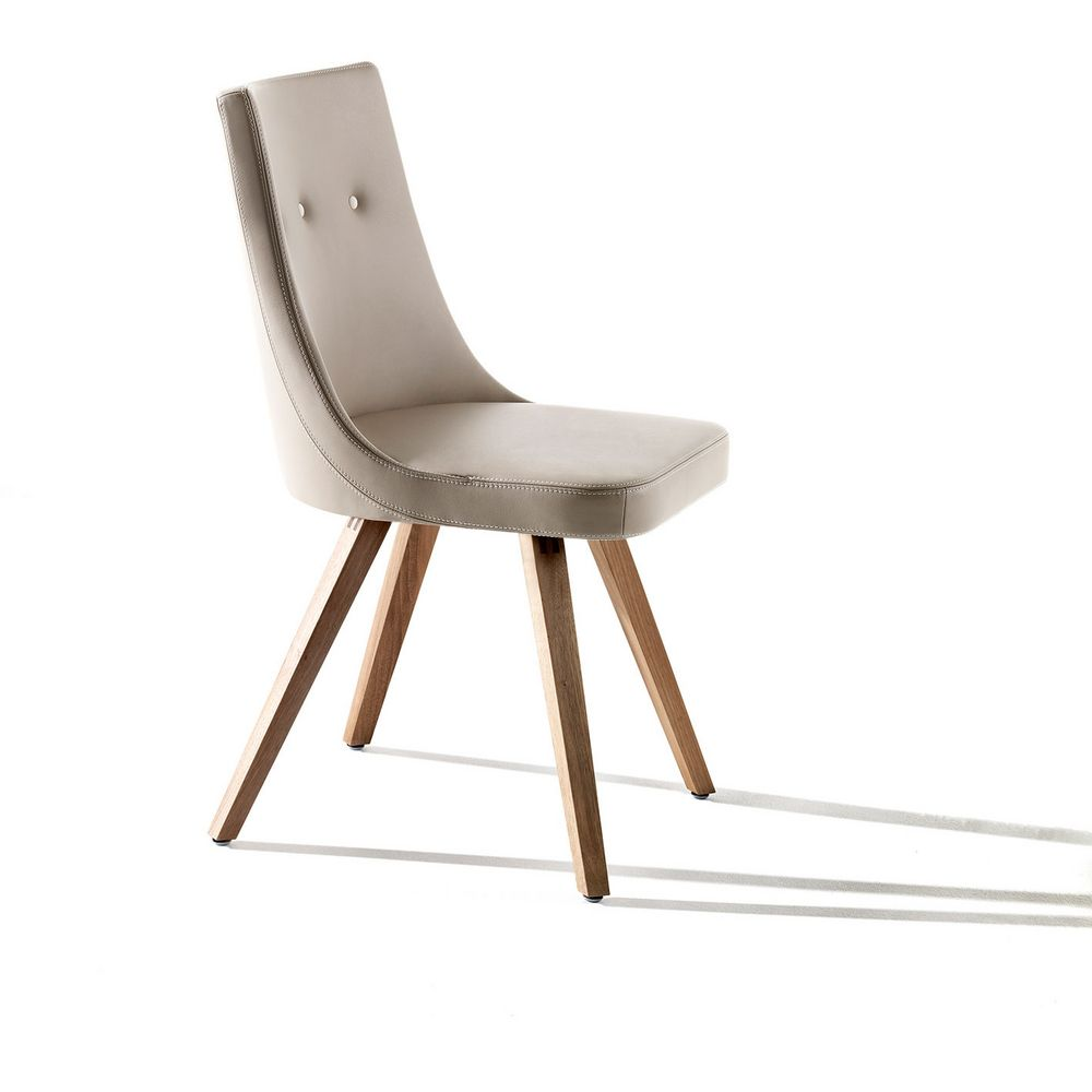 Möbel Stuhl Holz Rindsleder flexibel bequem Julia