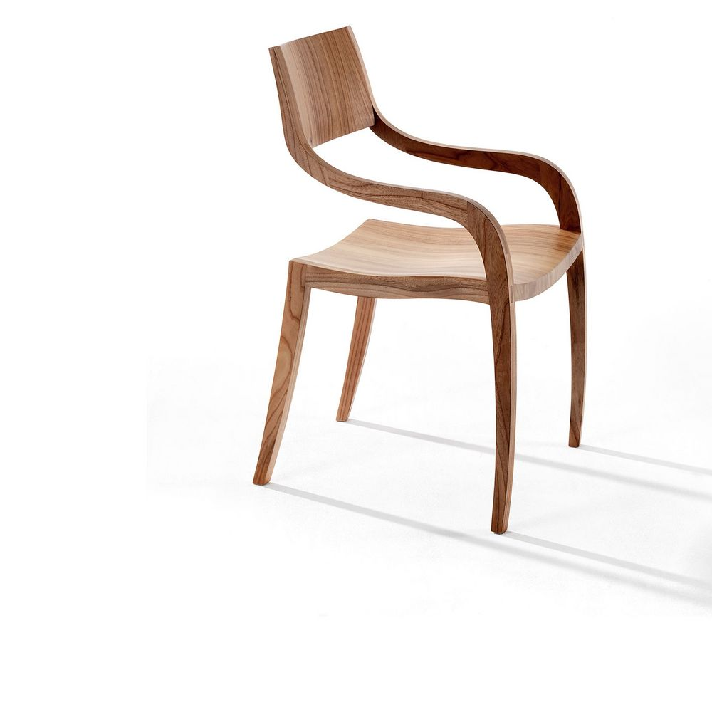 Möbel Stuhl Holz kurvig Lara