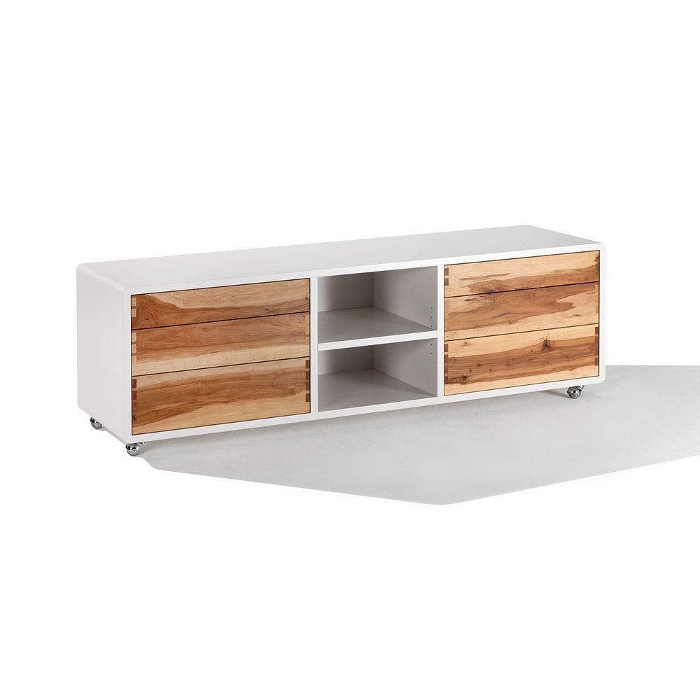 Möbel Holz Sideboard Tobias rechteckig Rollen