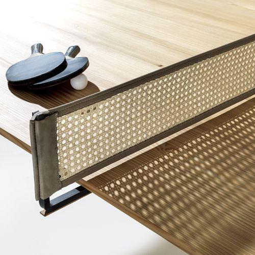 Möbeldesign Tisch Holz Pingpong Tennis Netz Roger